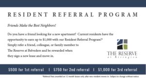 resident referral program